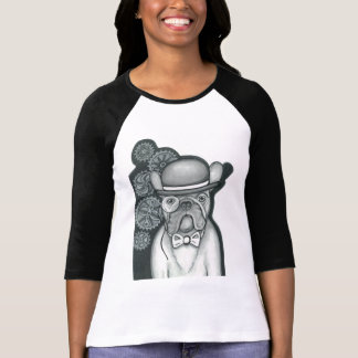 T-shirt Chemise de raglan de bouledogue français de