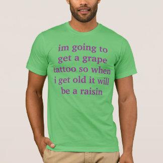 T-shirt chemise de raisin sec