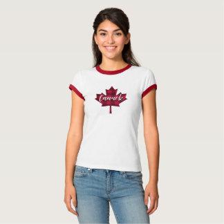 T-shirt Chemise de sonnerie de Canuck de feuille d'érable