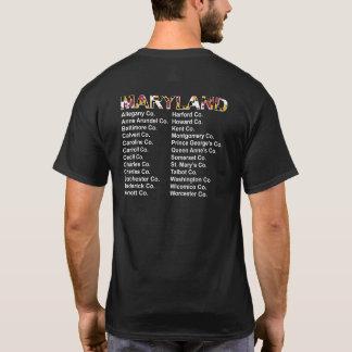 T-shirt Chemise de style de concert des comtés du Maryland