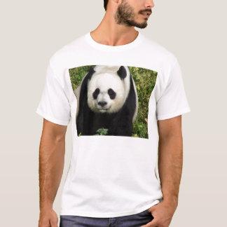 T-shirt Chemise de visage de panda géant tout droit