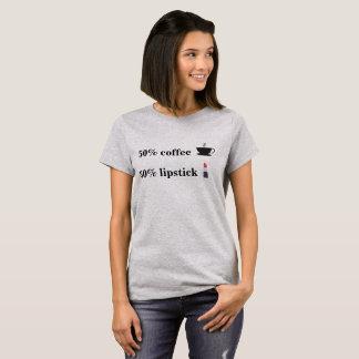 T-shirt chemise d'emoji de café de 50% et de rouge à