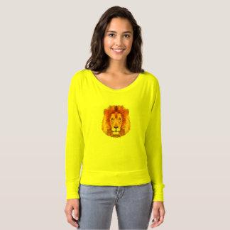 T-shirt Chemise d'épaule du lion des femmes