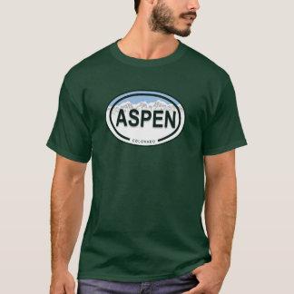 T-shirt Chemise d'étiquette de montagne d'Aspen le