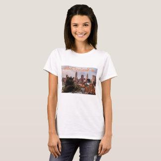 T-shirt Chemise d'horizon de chat de Cleveland