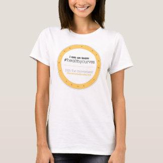T-shirt Chemise d'insigne de #healthycurves