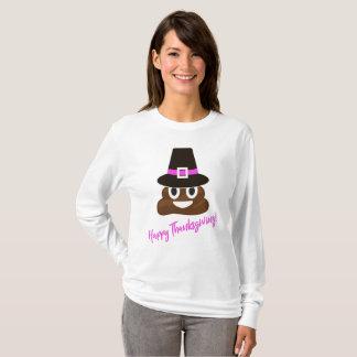 T-shirt Chemise drôle de thanksgiving de pèlerin d'Emoji