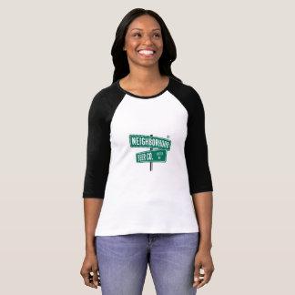 T-shirt Chemise du base-ball des femmes de la bière Cie.