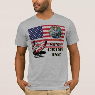 T-shirt Chemise du crime inc. d'évier