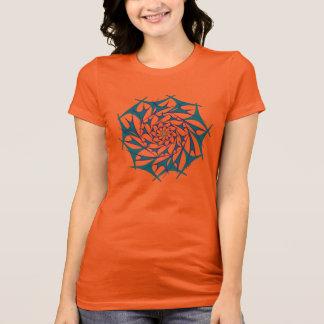 T-shirt Chemise du vortex v3 de chrysanthème