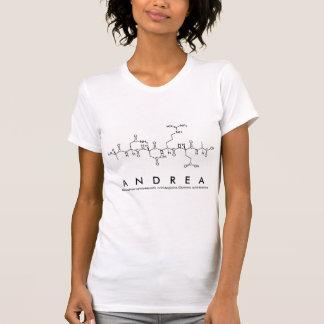T-shirt Chemise F de nom de peptide d'Andrea