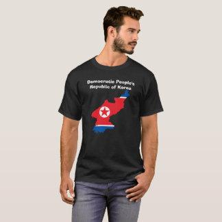 T-shirt Chemise faite sur commande de carte de drapeau de