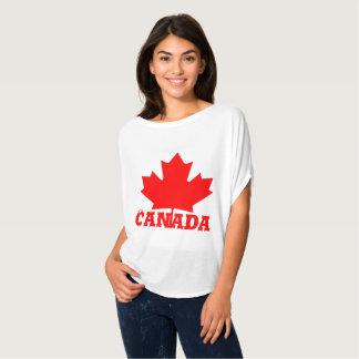 T-shirt Chemise faite sur commande d'érable rouge