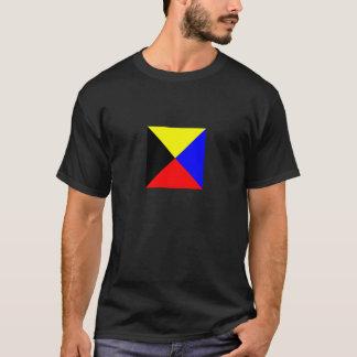 T-shirt Chemise Foncé-Colorée par drapeau de zoulou