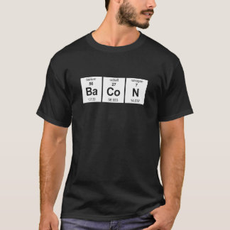 T-shirt Chemise foncée de base de lard