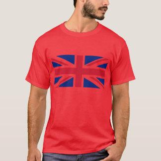T-shirt Chemise foncée rouge de drapeau
