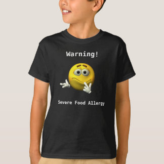 T-shirt Chemise grave d'allergie alimentaire