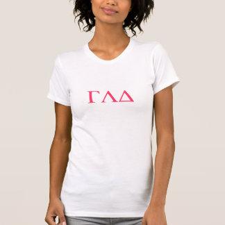 T-shirt Chemise grecque de lettre de GLD