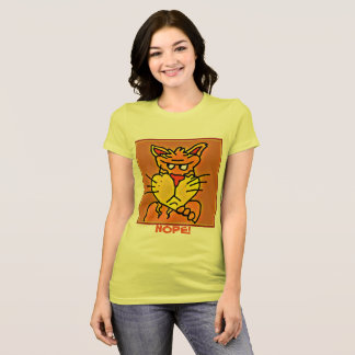 T-shirt Chemise grincheuse drôle de chat