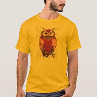 T-shirt Chemise Hibou-Blanche lumineuse de fleurs de Brown