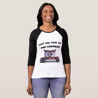 T-shirt Chemise imprimée de hibou avec le black&white