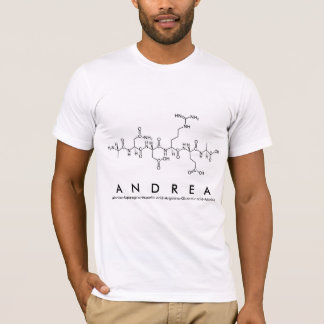 T-shirt Chemise M de nom de peptide d'Andrea