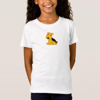 T-Shirt Chemise mignonne de chiot de Kawaii Airedale