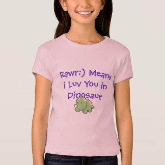 T-shirt Chemise mignonne de dinosaure (Rawr)