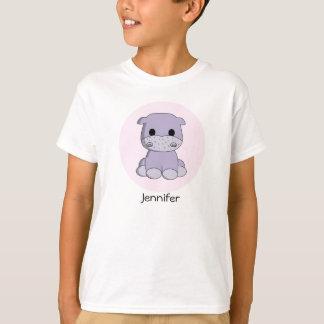 T-shirt Chemise mignonne de fille de nom de bande dessinée