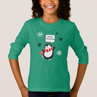 T-shirt Chemise mignonne de pingouins de Joyeux Noël