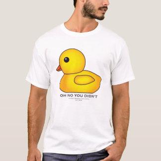 T-shirt Chemise mignonne en caoutchouc - blanc