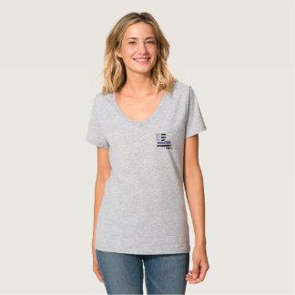 T-shirt Chemise mince V de police de Blue Line Louisiane -