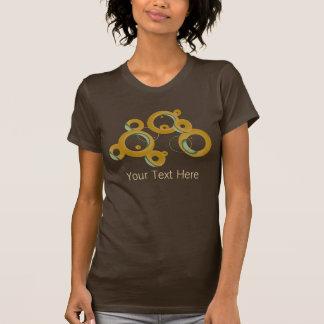 T-shirt Chemise moderne de bulles - olive