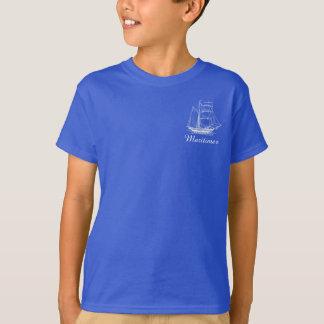 T-shirt Chemise nautique de bateau de bateau de navigation
