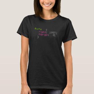 T-shirt Chemise nerd Geeky droite de programmeur d'épouse