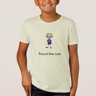T-Shirt Chemise organique d'enfants - zone sans Arachide