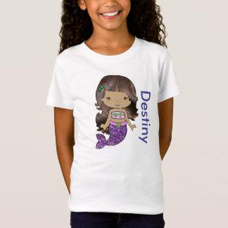 T-Shirt Chemise organique personnalisée de filles de