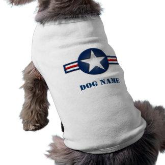 T-shirt Chemise personnalisée de chien de logo de l'Armée