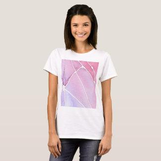 T-shirt Chemise pour aquarelle de marbre rose de coupure