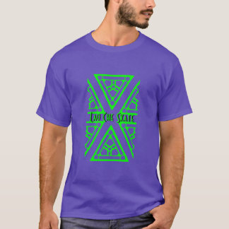 T-shirt Chemise pourpre et verte de patin de Che du