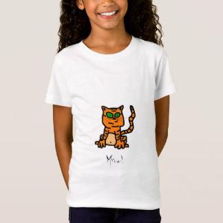 T-Shirt Chemise rayée de chaton de bande dessinée