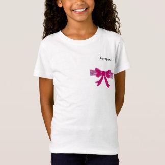 T-Shirt Chemise rose de l'arc de la fille