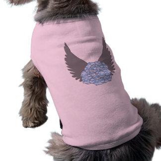 T-shirt Chemise rose merveilleuse de chien