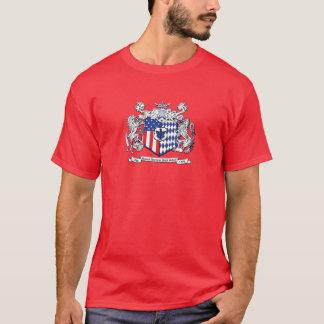 T-shirt Chemise rouge foncé de crête