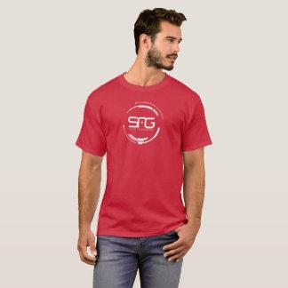 T-shirt Chemise rouge-foncé de génération de Sci fi