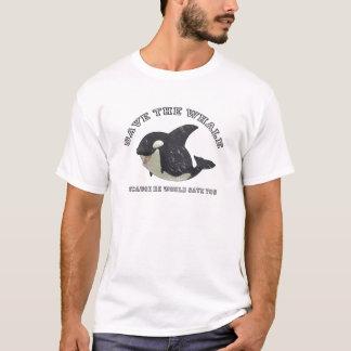 """T-shirt Chemise """"sauvez baleine"""""""