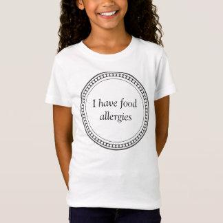 """T-Shirt Chemise simple avec """"moi ai des allergies"""