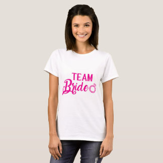 T-shirt Chemise Team Bride pink