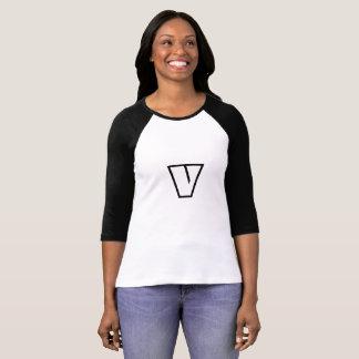 """T-shirt Chemise végétarienne végétalienne """"V"""" le monstre"""