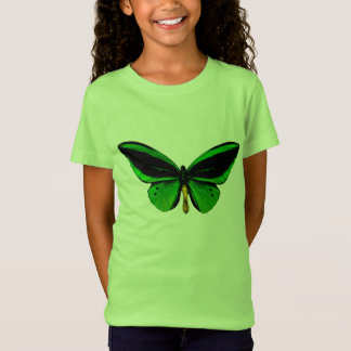 T-Shirt Chemise verte de papillon